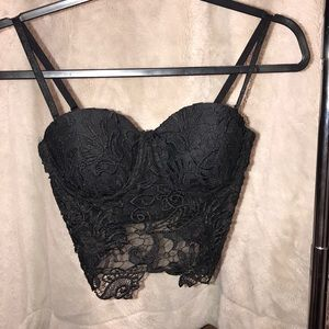 BEBE Crochet Bra Top